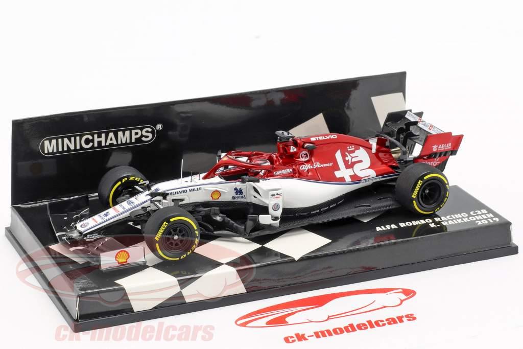 Kimi Räikkönen Alfa Romeo Racing C38 #7 fórmula 1 2019 1:43 Minichamps