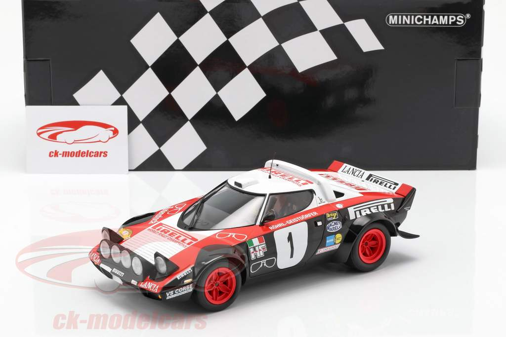 Lancia Stratos #1 vencedor Rallye Dynavit Saarland 1978 Röhrl, Geistdörfer 1:18 Minichamps