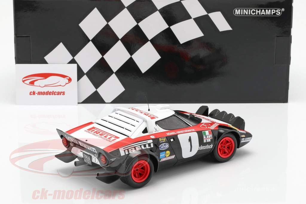 Lancia Stratos #1 Winner Rallye Dynavit Saarland 1978 Röhrl, Geistdörfer 1:18 Minichamps