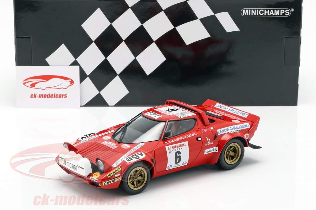 Lancia Stratos #6 ganador Tour de Corse 1975 Darniche, Mahe 1:18 Minichamps