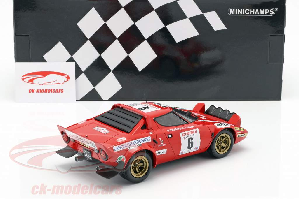 Lancia Stratos #6 winnaar Tour de Corse 1975 Darniche, Mahe 1:18 Minichamps