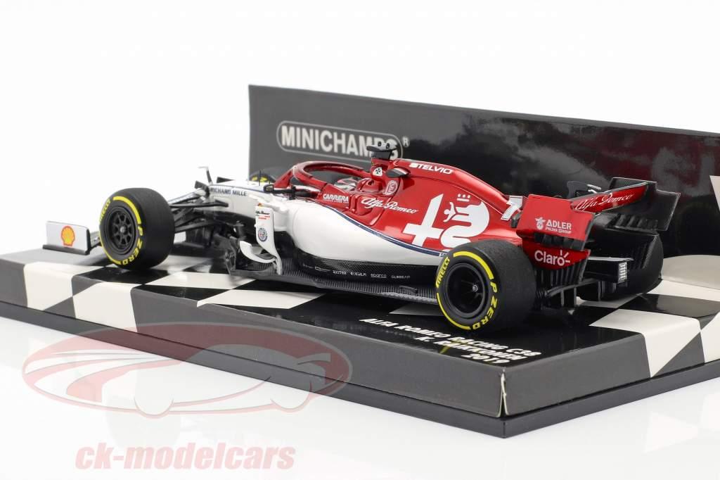 Kimi Räikkönen Alfa Romeo Racing C38 #7 formel 1 2019 1:43 Minichamps