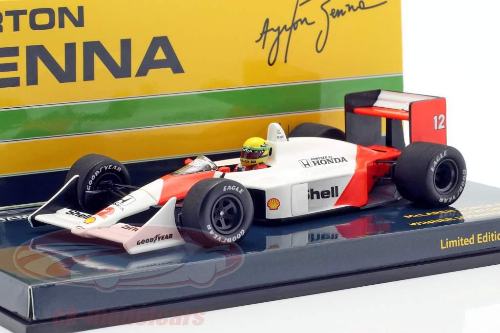 Ayrton Senna McLaren MP4/4 #12 verdensmester Japan GP F1 1988 1:43 Minichamps