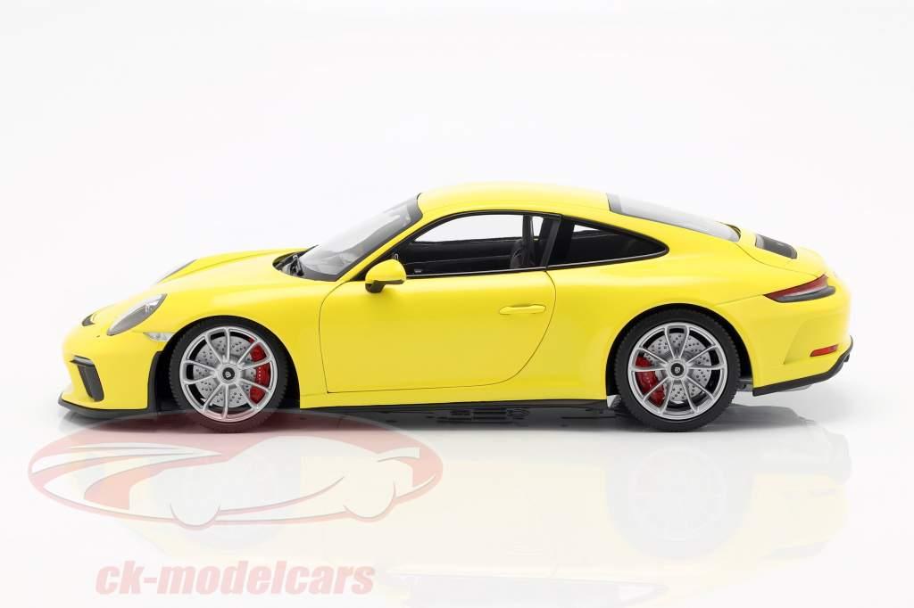Porsche 911 (991/2) GT3 Touring anno di costruzione 2018 giallo 1:18 Minichamps