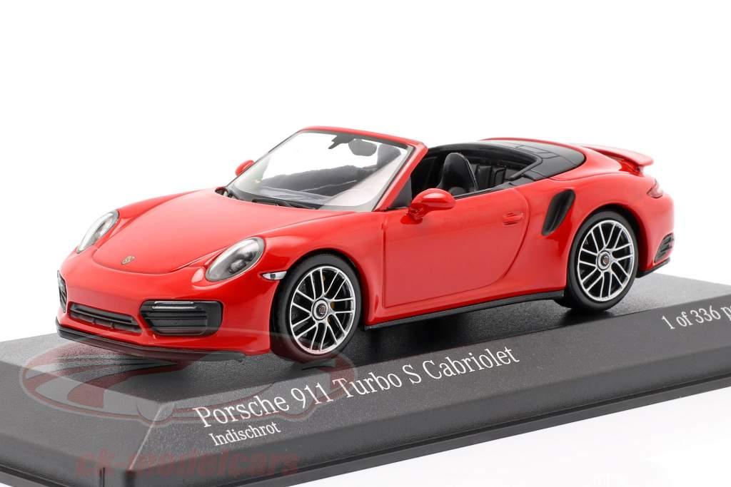 Porsche 911 (991.2) Turbo S Cabriolet année de construction 2016 1:43 Minichamps