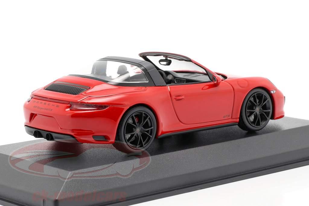 Porsche 911 (991.2) Targa 4 GTS Bouwjaar 2016 rood 1:43 Minichamps