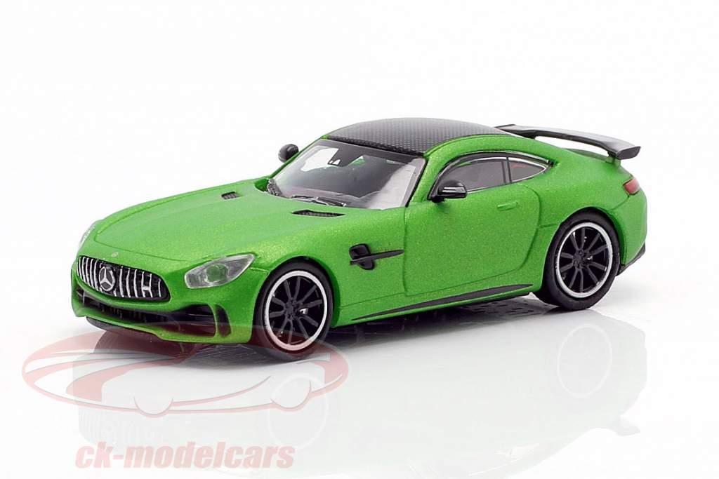 Mercedes-Benz AMG GT-R año de construcción 2017 verde metálico 1:87 Minichamps