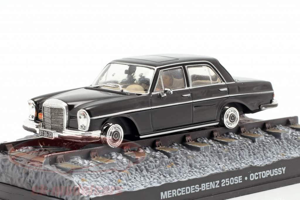 Mercedes-Benz 250SE James Bond Movie Car Octopussy schwarz 1:43 Ixo