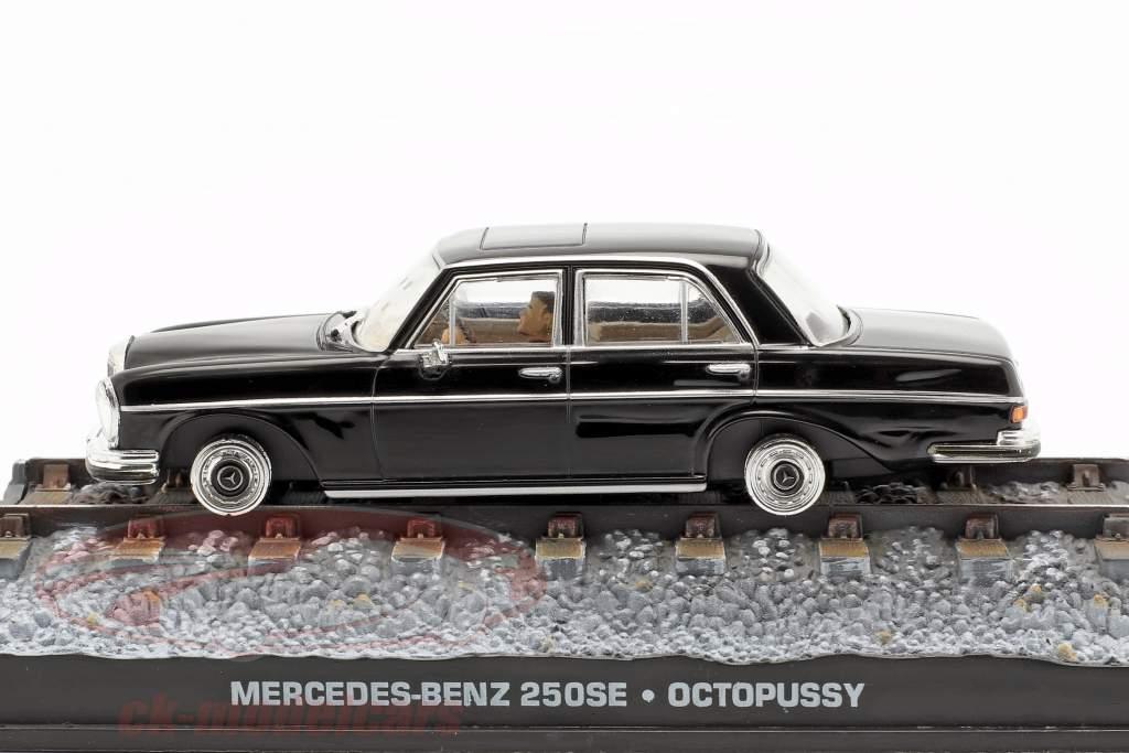 Mercedes-Benz 250SE James Bond filme Octopussy carro preto 1:43 Ixo