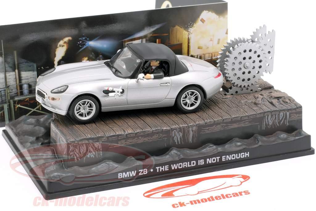 Bil BMW Z8 James Bond film The World Is Not Enough silver 1:43 Ixo