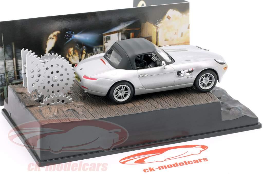 Coche BMW Z8 película de Bond James El mundo nunca es suficiente plata 1:43 Ixo