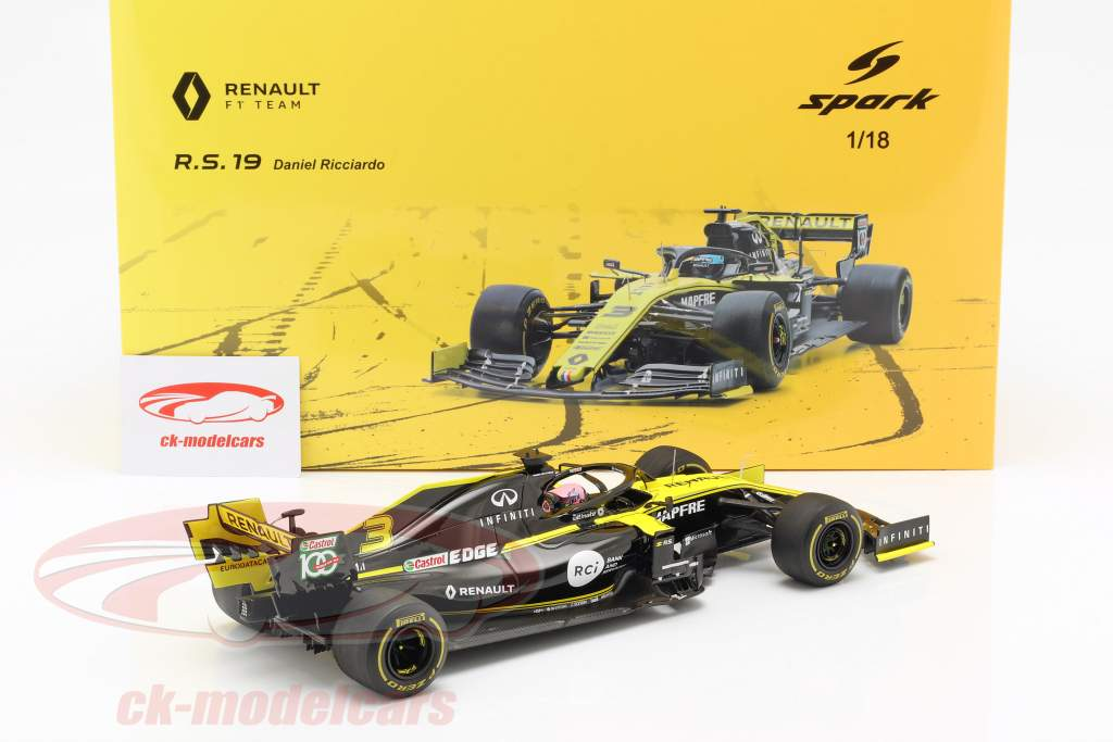 Daniel Ricciardo Renault R.S.19 #3 australiano GP fórmula 1 2019 1:18 Spark