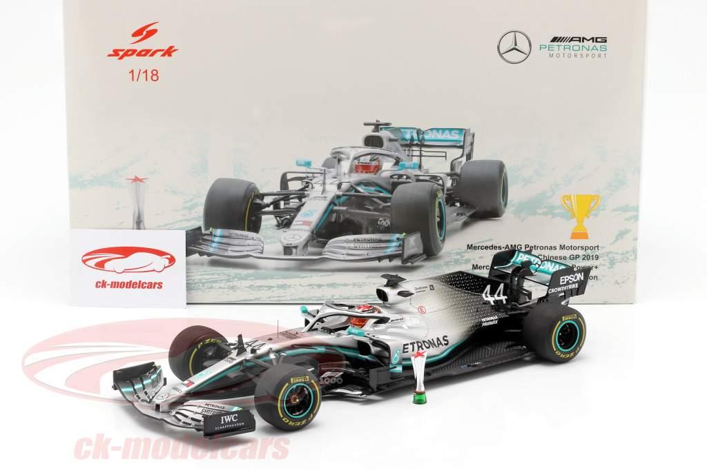 L. Hamilton Mercedes-AMG F1 W10 #44 gagnant chinois GP formule 1 2019 1:18 Spark