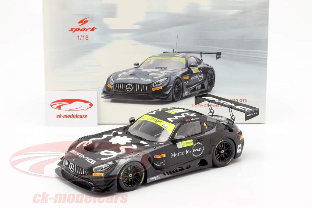 Mercedes-Benz AMG GT3 #1 3e FIA GT World Cup Macau 2018 E. Mortara 1:18 Spark