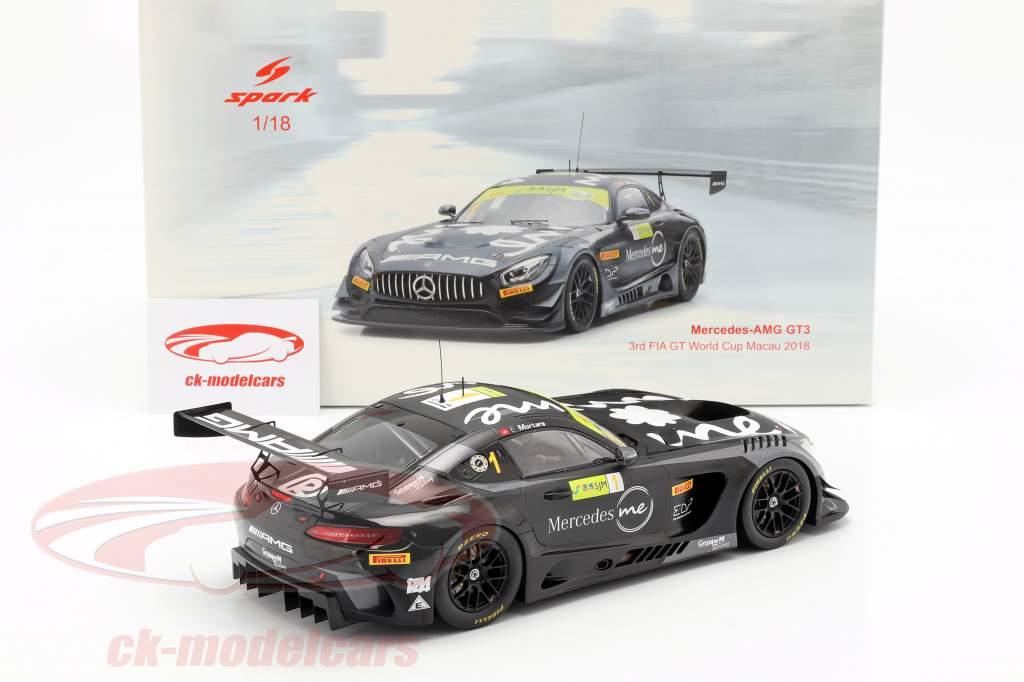 Mercedes-Benz AMG GT3 #1 3 FIA GT World Cup Macau 2018 E. Mortara 1:18 Spark