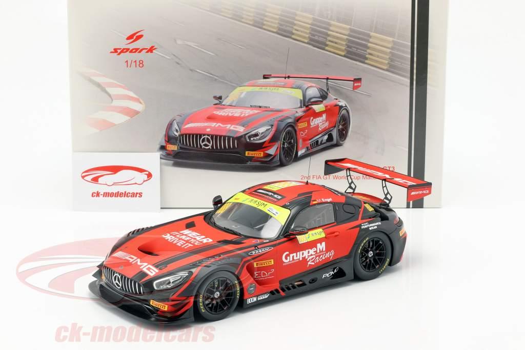 Mercedes-Benz AMG GT3 #888 segundo FIA GT World Cup Macau 2018 M. Engel 1:18 Spark