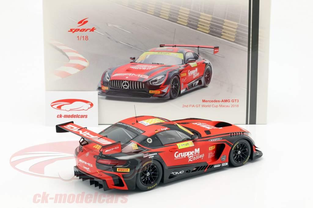 Mercedes-Benz AMG GT3 #888 2º FIA GT World Cup Macau 2018 M. Engel 1:18 Spark