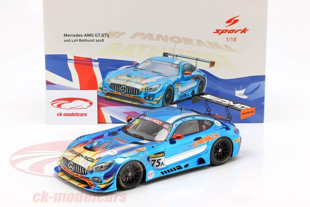 Mercedes-Benz AMG GT3 #75 segundo 12h Bathurst 2018 SunEnergy1 Racing 1:18 Spark