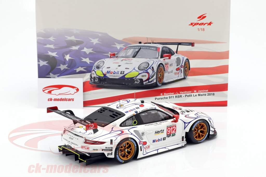 Porsche 911 RSR #912 Petit LeMans 2018 Porsche GT Team 1:18 Spark