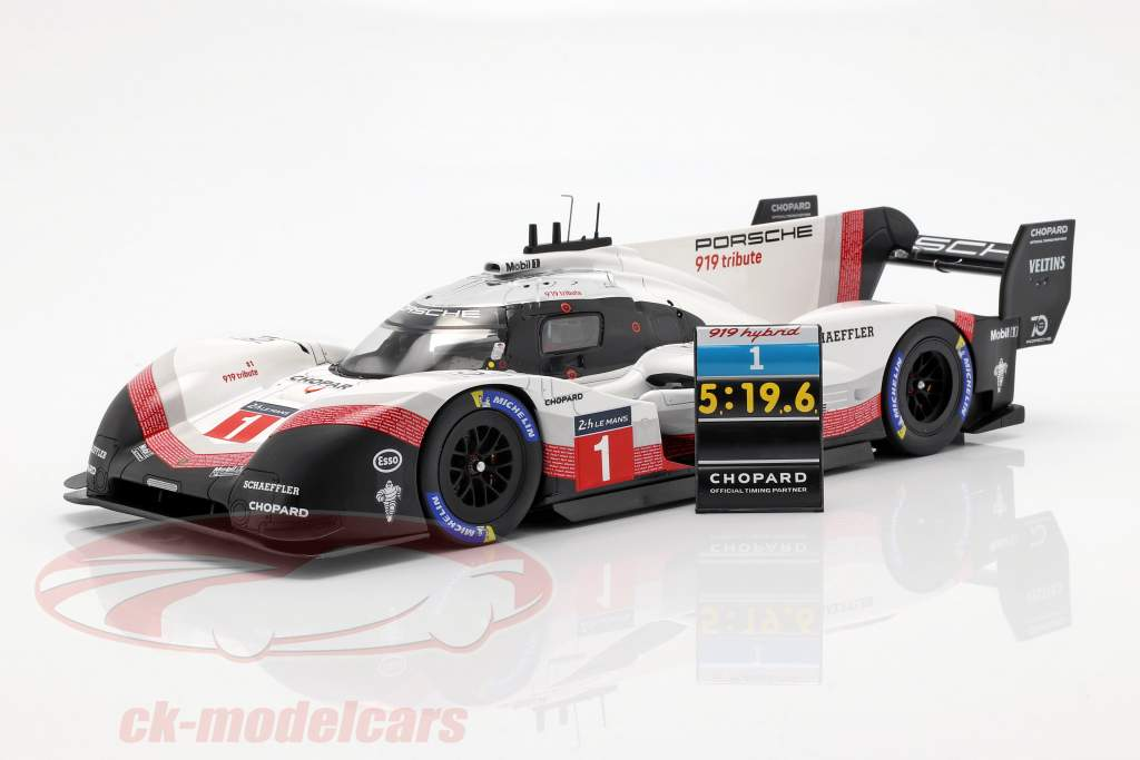 Porsche 919 Hybrid Evo #1 banerekord Nürburgring 2018 T. Bernhard 1:18 Spark
