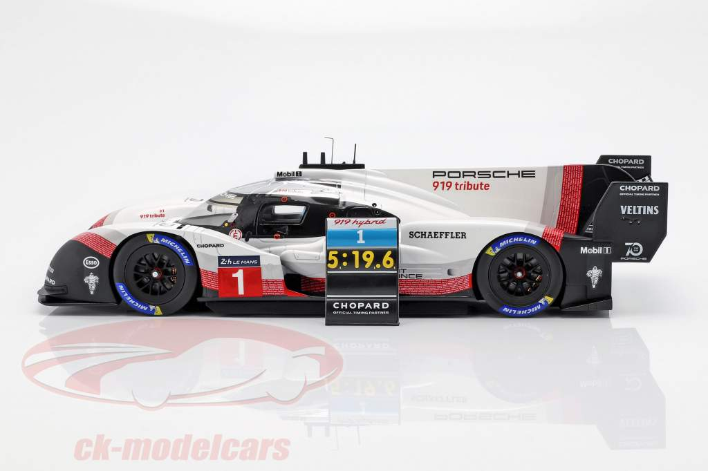 Porsche 919 Hybrid Evo #1 recorde de volta Nürburgring 2018 T. Bernhard 1:18 Spark