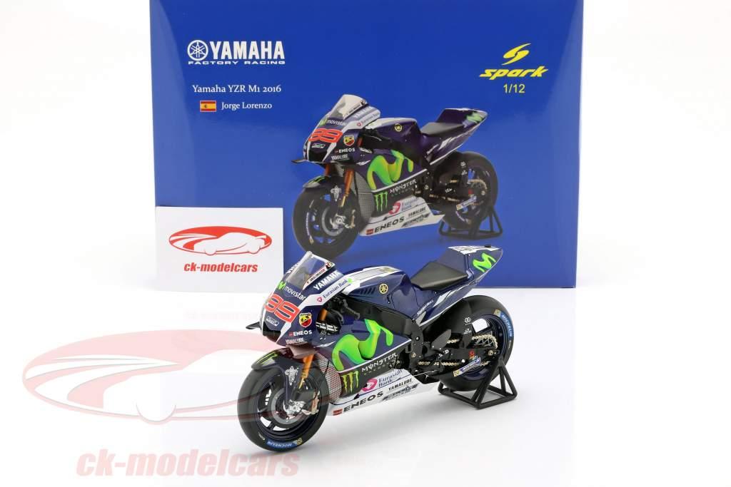 Jorge Lorenzo Yamaha YZR-M1 #99 Vinder Frankrig MotoGP 2016 1:12 Spark