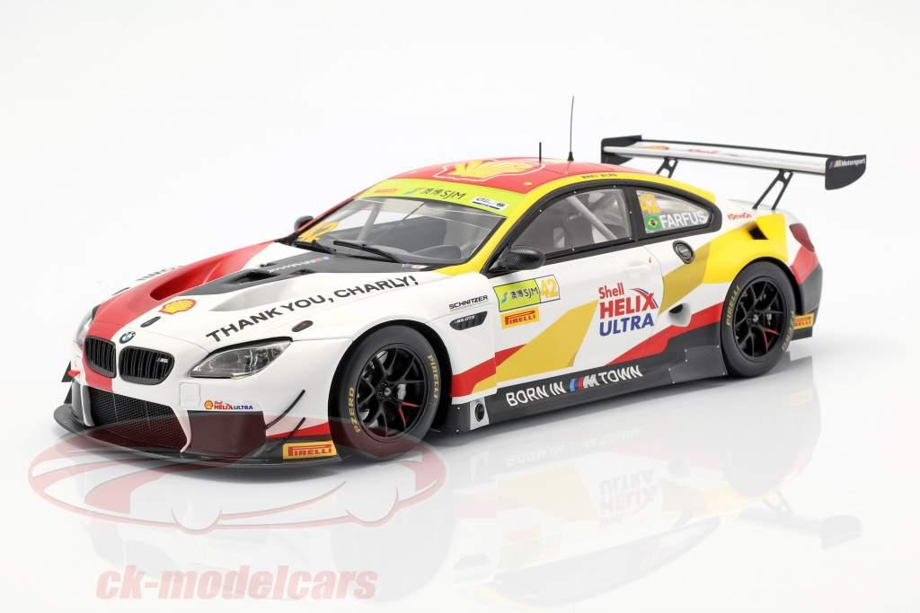 BMW M6 GT3 #42 gagnant FIA GT World Cup Macau 2018 Augusto Farfus 1:18 Spark