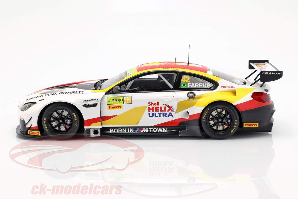 BMW M6 GT3 #42 ganador FIA GT World Cup Macau 2018 Augusto Farfus 1:18 Spark
