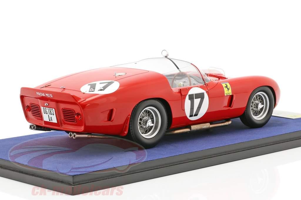 Ferrari 250 TRI/61 #17 24h LeMans 1961 P. Rodriguez, R. Rodriguez med udstillingsvindue 1:18 LookSmart