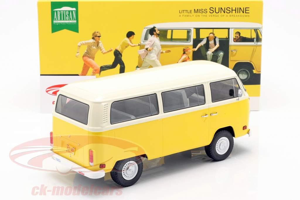 Volkswagen VW T2 Bus 1978 película Little Miss Sunshine (2006) amarillo 1:18 Greenlight