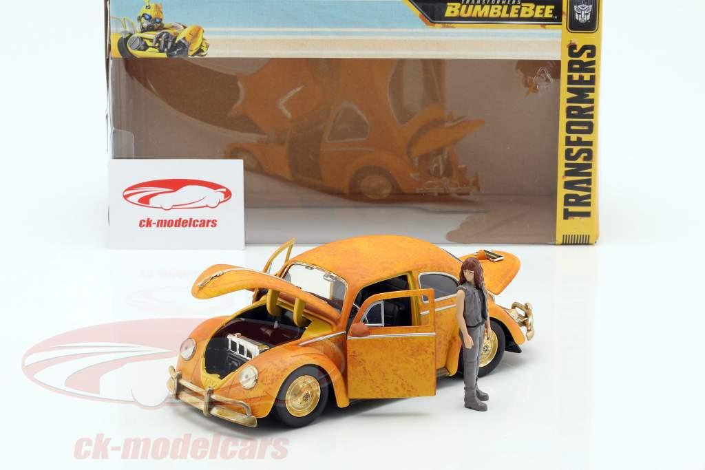 Volkswagen VW Beetle Bumblebee met Charlie figuur Transformers 1:24 Jada Toys