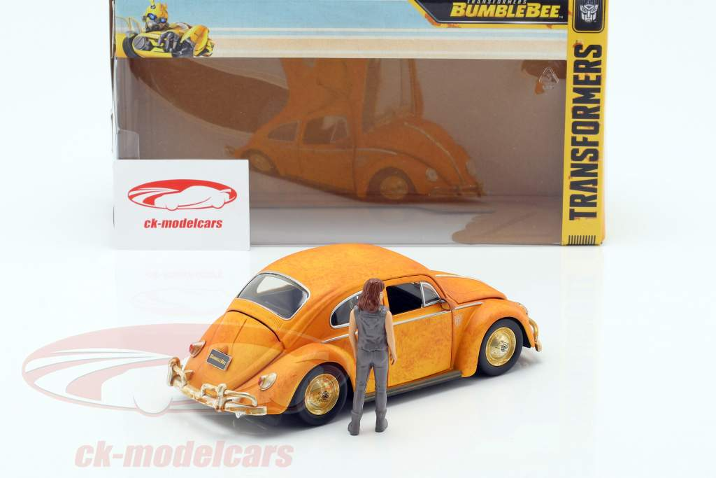 Volkswagen VW Beetle Bumblebee con Charlie figura Transformers 1:24 Jada Toys