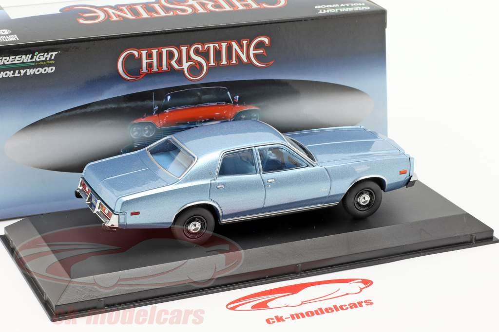 Plymouth Fury 1977 film Christine (1983) lichtblauw metalen 1:43 Greenlight