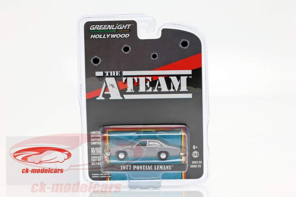 Pontiac LeMans 1977 tv-serie de A-Team (1983-87) zilvergrijs 1:64 Greenlight