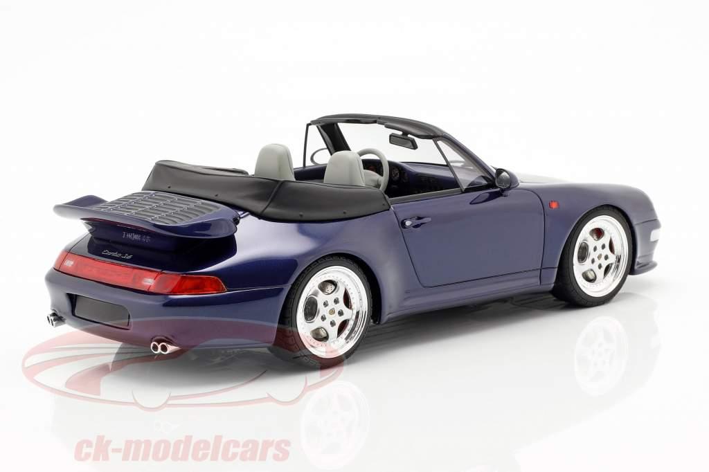 Porsche 911 (993) Turbo Cabriolet year 1995 dark blue 1:18 GT-Spirit