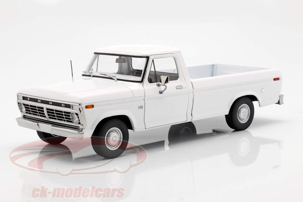 Ford F-100 Pick-Up Opførselsår 1973 hvid 1:18 Greenlight