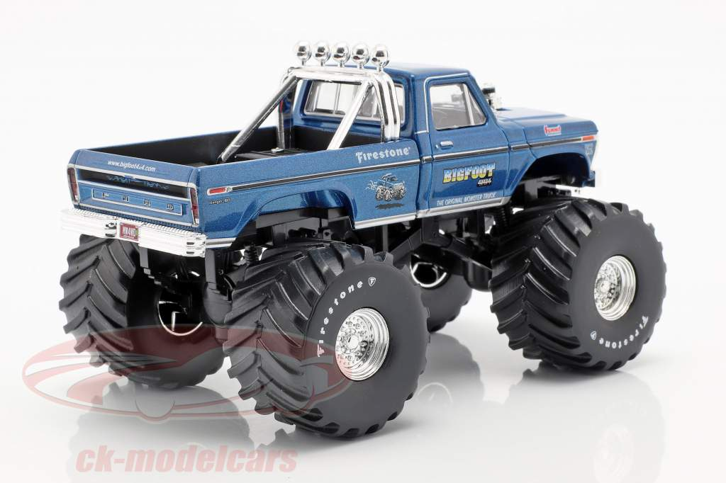 Ford F-250 Monster Truck Bigfoot #1 año de construcción 1974 azul 1:43 Greenlight