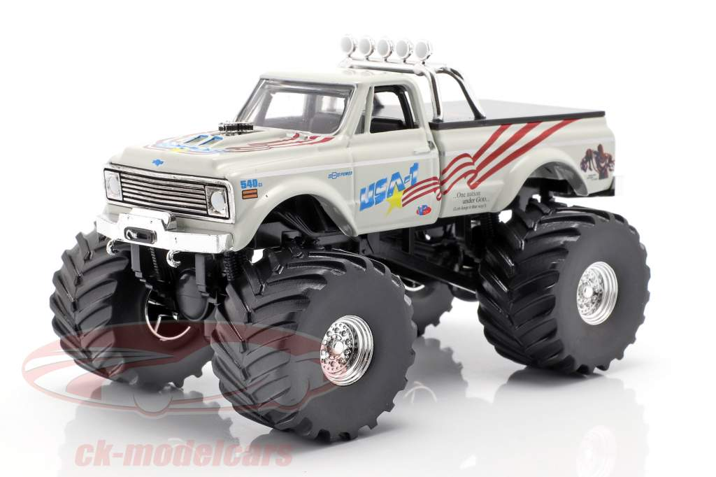 Chevrolet K-10 USA-1 Monster Truck année de construction 1970 blanc 1:43 Greenlight