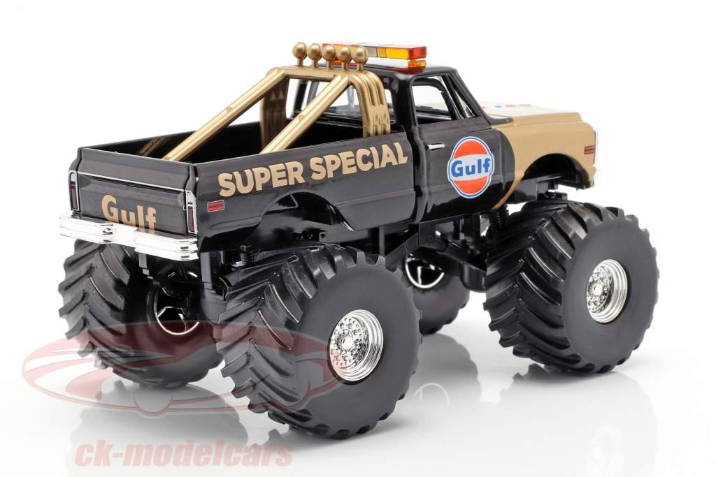 Chevrolet K-10 Gulf Super Special Monster Truck 1971 schwarz / gold 1:43 Greenlight