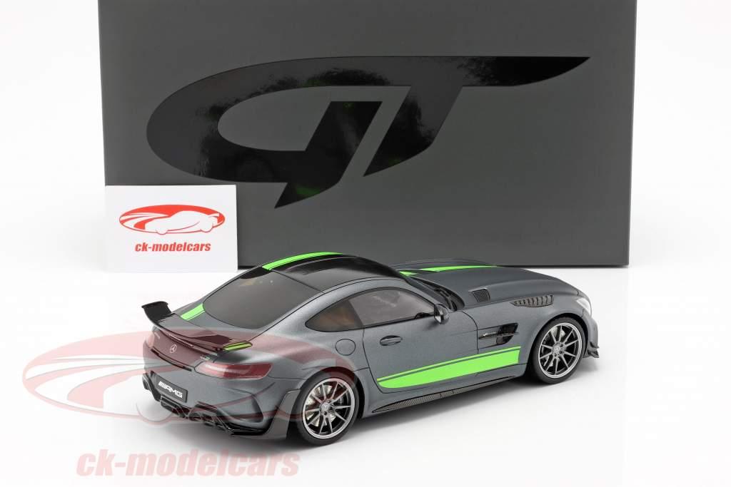 Mercedes-Benz AMG GT-R Pro année de construction 2019 gris / vert 1:18 GT-Spirit