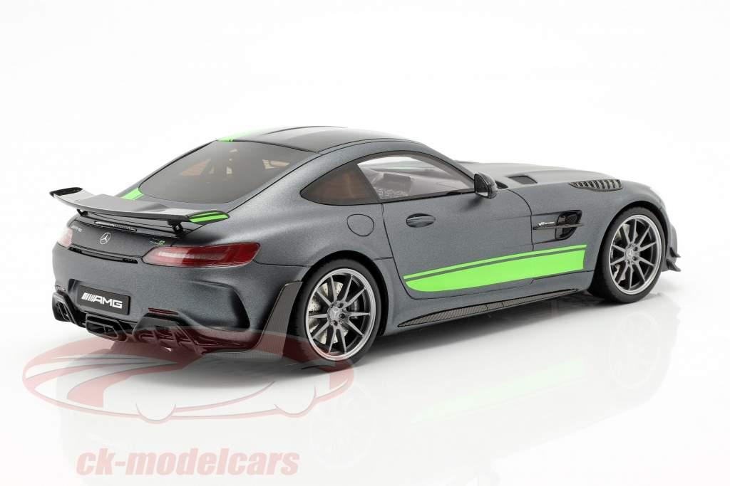 Mercedes-Benz AMG GT-R Pro año de construcción 2019 gris / verde 1:18 GT-Spirit