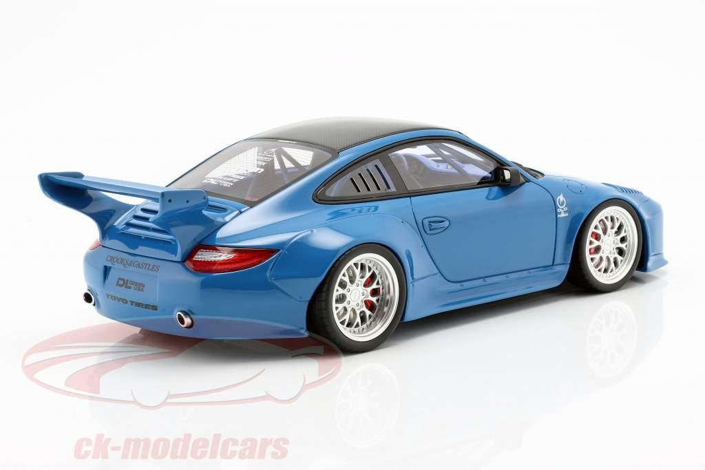 Porsche 911 (997) Old & New Body Kit 2016 bleu 1:18 GT-Spirit