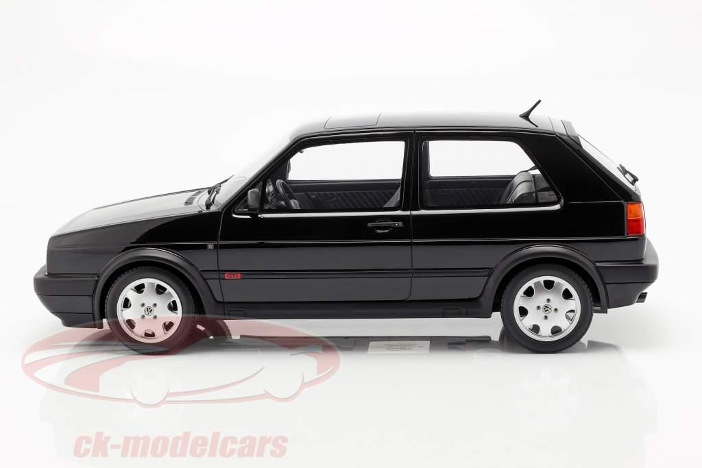 Volkswagen VW Golf GTI Mk2 16V Baujahr 1989 schwarz 1:12 OttOmobile