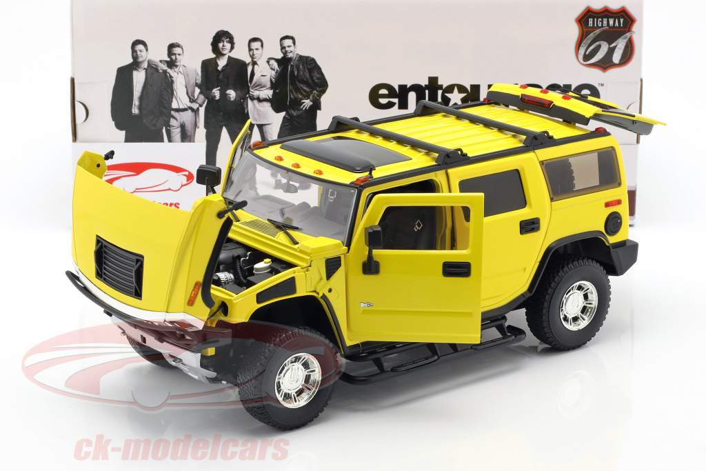 Hummer H2 Anno 2003 serie TV Entourage (2004-2011) giallo 1:18 Greenlight