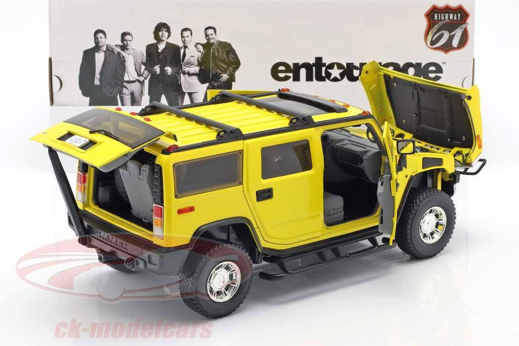 Hummer H2 Baujahr 2003 TV-Serie Entourage (2004-2011) gelb 1:18 Greenlight