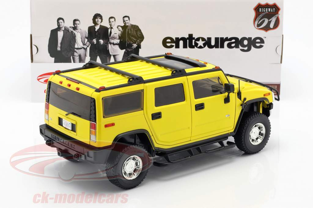 Hummer H2 Année 2003 Série télévisée Entourage (2004-2011) jaune 1:18 Greenlight