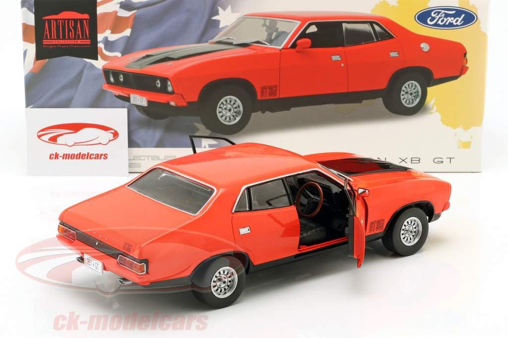 Ford Falcon XB GT351 ano de construção 1974 vermelho / preto 1:18 Greenlight