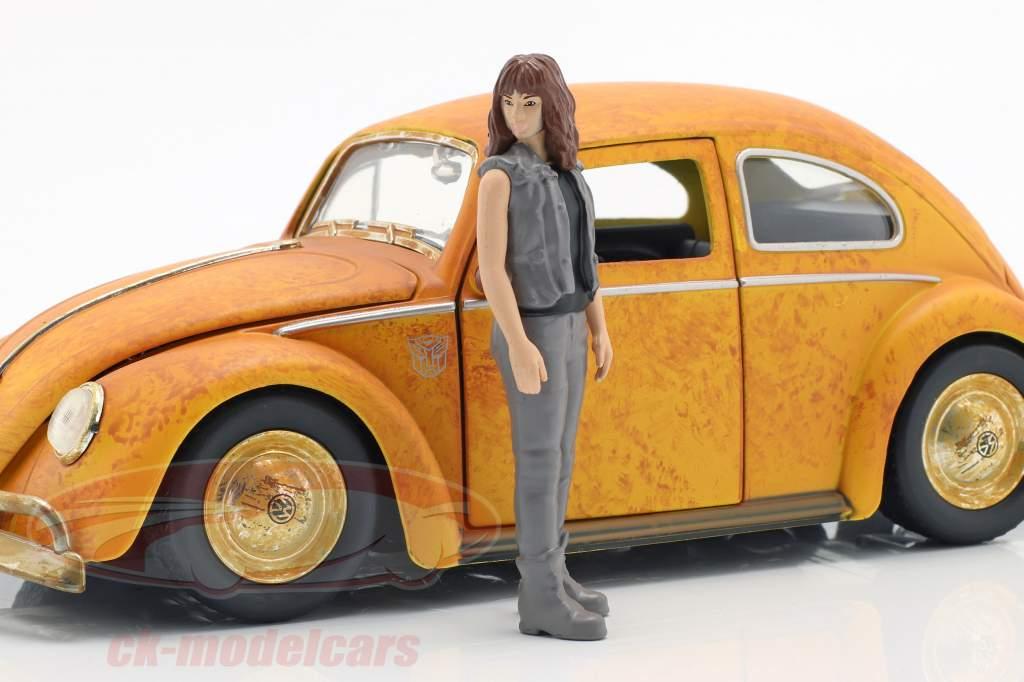 Volkswagen VW Beetle Bumblebee with Charlie figure Transformers 1:24 Jada Toys
