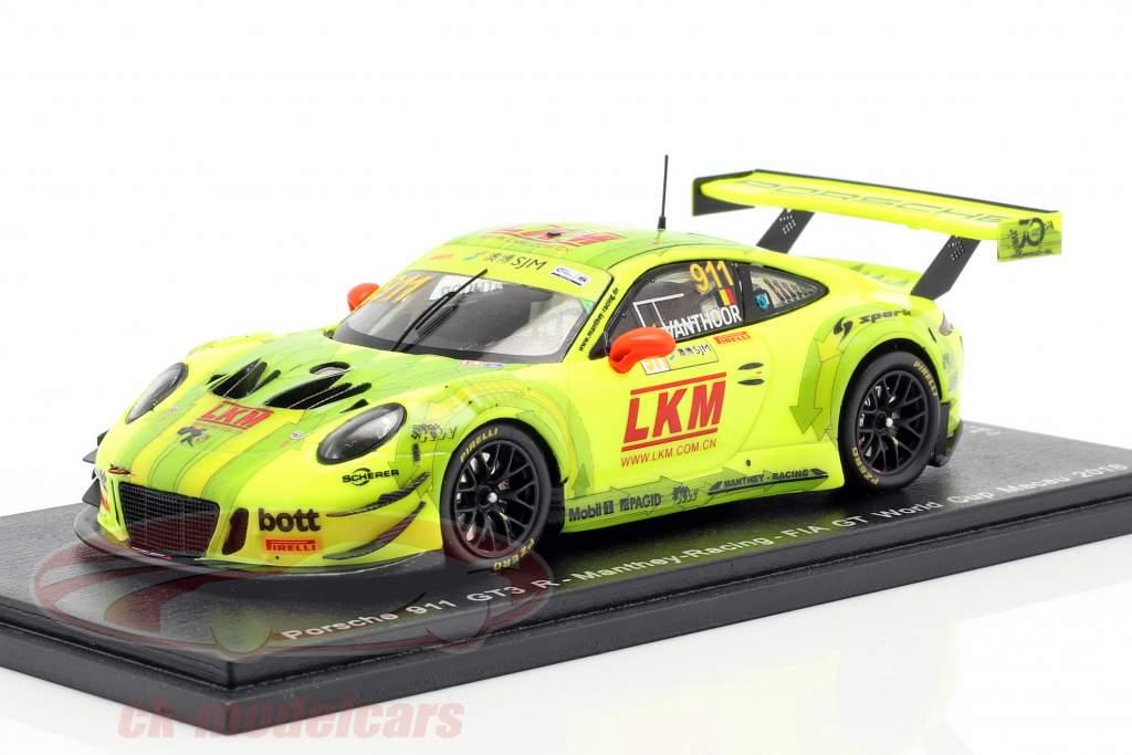 Porsche 911 (991) GT3 R #911 FIA GT World Cup Macau 2018 L. Vanthoor 1:43 Spark
