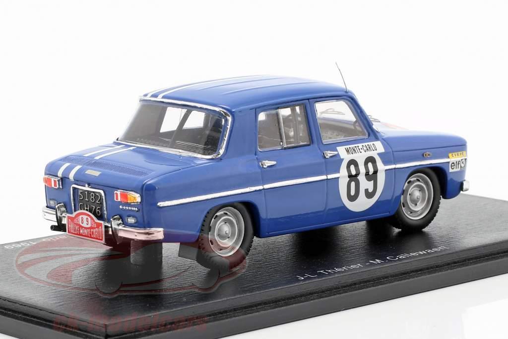 Renault 8 Gordini #89 quinto Rallye Monte Carlo 1969 Therier, Callewaert 1:43 Spark